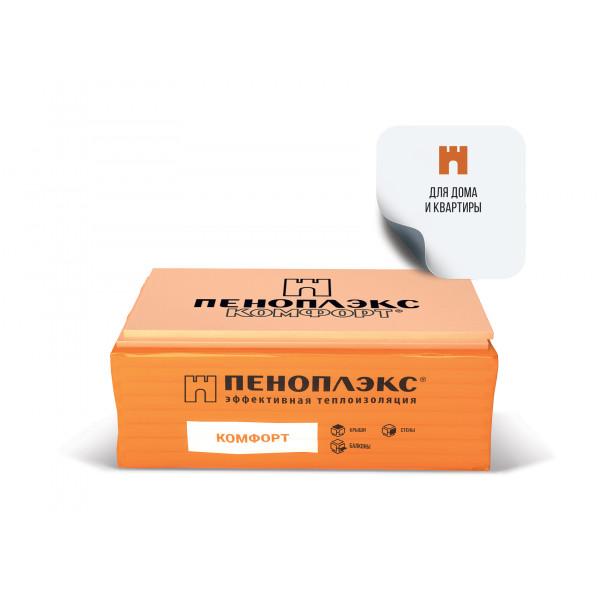 Экструзионный пенополистирол Пеноплекс КОМФОРТ 1185х585х50 мм (уп. 0,2429м3, 7шт/уп)