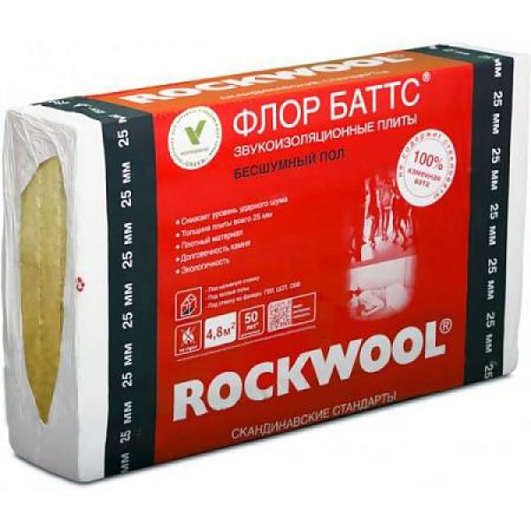 Утеплитель Rockwool Флор Баттс 1000 х 600 х 25