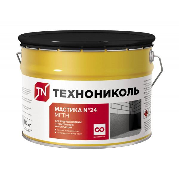 Мастика гидроизоляционная №24 Технониколь (МГТН), ведро 10 килограмм