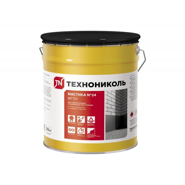 Мастика гидроизоляционная №24 Технониколь (МГТН), ведро 20 килограмм