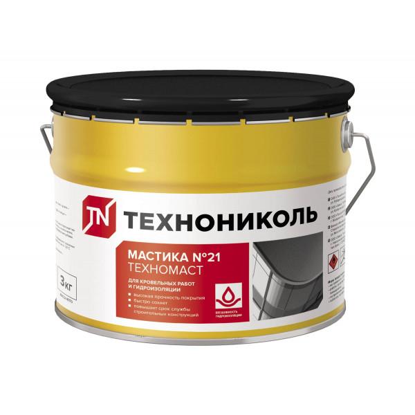 Мастика кровельная №21 Техномаст Технониколь, ведро 3 килограмма