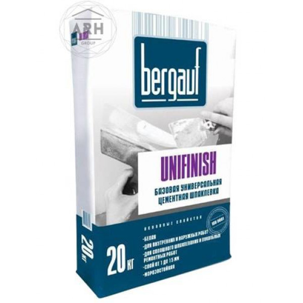 Bergauf Unifinish шпатлевка цементная 20 кг