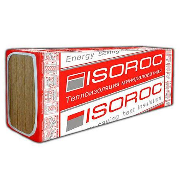 Базальтовый утеплитель Isoroc ПП-80 1200х500х100 мм (0,2м3)