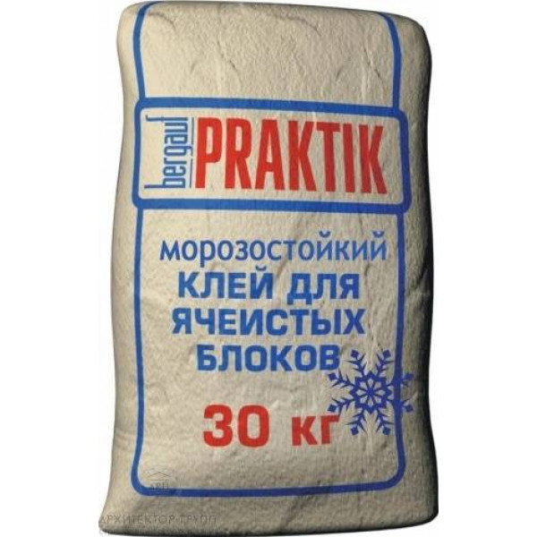 Bergauf Praktik клей для ячеистых блоков морозостойкий, 30 кг