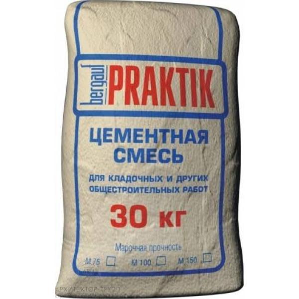 Bergauf Praktik М100 кладочная смесь цементная, 30 кг