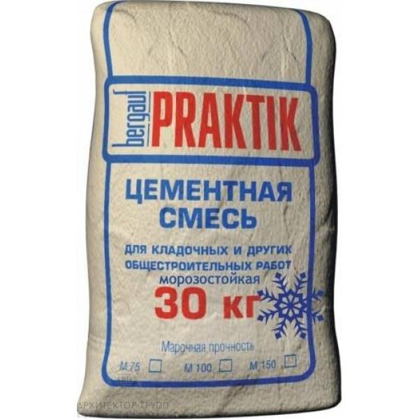 Bergauf Praktik М100 морозостойкая кладочная смесь цементная, 30 кг