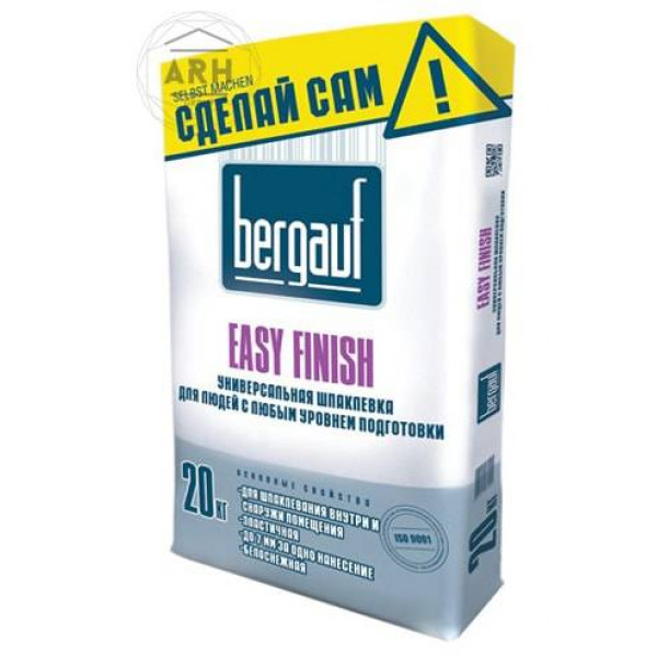 Bergauf Easy Finish шпатлевка цементная 20 кг