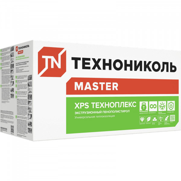 Экструдированный пенополистирол (XPS) XPS Технониколь Техноплекс 1180x580x100 мм L-кромка